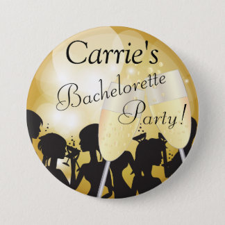 Girls Night Out Bachelorette Party in Gold Bokeh 7.5 Cm Round Badge