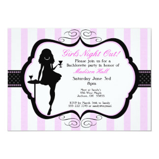 Girls Night Out Bachelorette Party Invitation