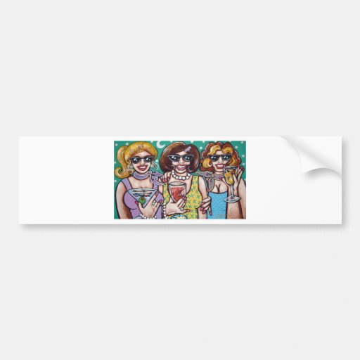 girls night out bumper stickers