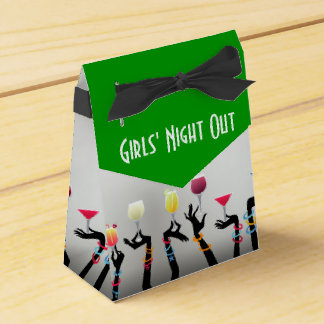 Girls Night Out Cocktail Party Wedding Favor Boxes