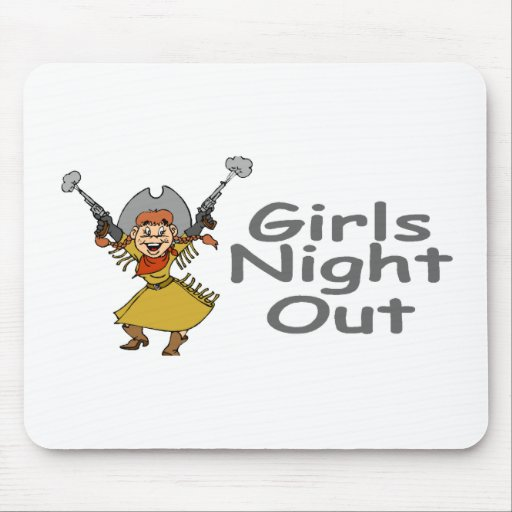 Girls Night Out Cowgirl Mouse Pad