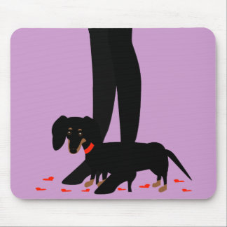 Girls Night Out - Dachshund Red Collar Mouse Pad