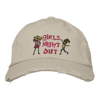 Girl's Night Out Embroidered Baseball Cap
