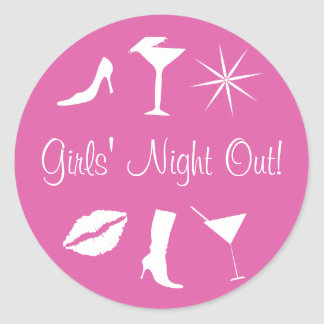 Girls' Night Out! Envelope Sticker Seal