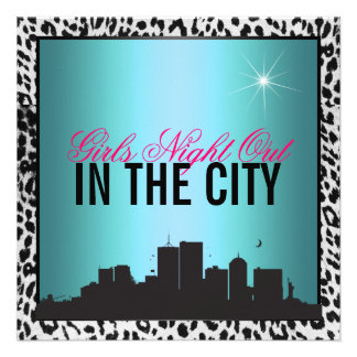 Girls night out in the city personalized invite