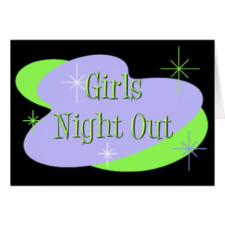 Girls Night Out invitations Stationery Note Card