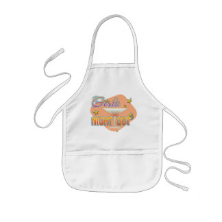 girls night out, last night out bachelorette party kids apron
