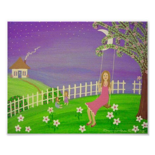 Girls Night Out - Mother & Daughters Kids Girl Art Posters
