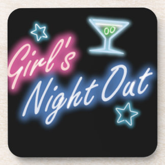 Girl's Night Out Party Pattern Coaster
