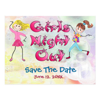 Girl's Night Out - Save the Date Postcard
