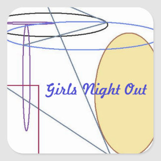 Girls Night Out Square Sticker