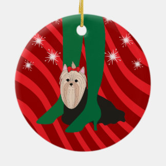 Girls' Night Out Yorkie Dog Christmas Ornament