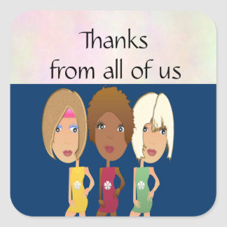 Girls Night Thank You Stickers