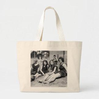 Girls on the Beach, early 1900s Jumbo Tote Bag