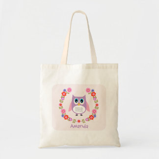 Girls Owl Tote Bag