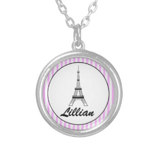 Girls Personalised Eiffel Tower Necklace