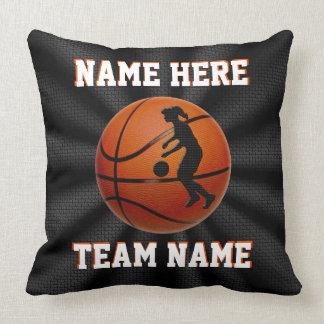 Girls Personalized Basketball Pillows Team Gifts