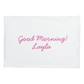 Girls personalized pillowcase
