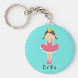 Girls Personalzied Ballerina Keychain