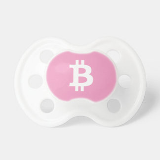 Girl's Pink Baby Bitcoin Pacifier