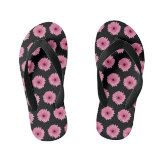 Girls' Pink Daisy Flip Flops