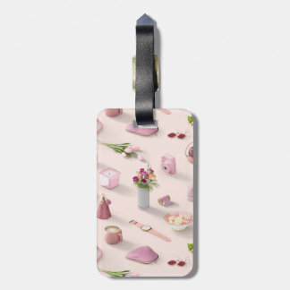 Girl's Pink Dream Luggage Tag