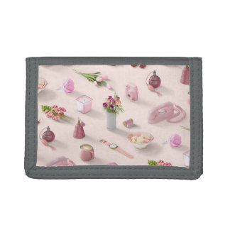 Girl's Pink Dream Tri-fold Wallets