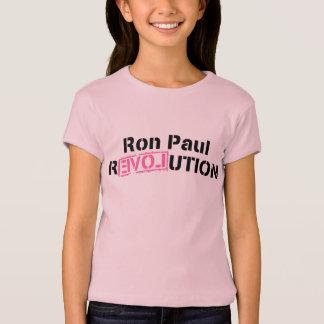 Girls Pink Revolution Ron Paul T-Shirt