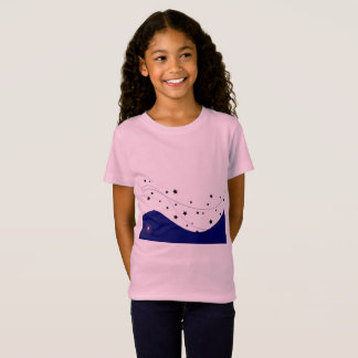 Girls pink t-shirt with heaven Stars
