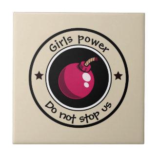 Girls power ceramic tile