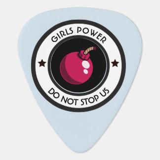 Girls power guitar pick