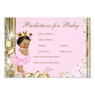 Girls Predictions & Advice for Parents Baby Shower 9 Cm X 13 Cm Invitation Card