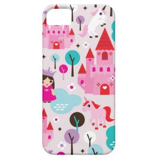 Girls princess castle and unicorn iphone case iPhone 5 case