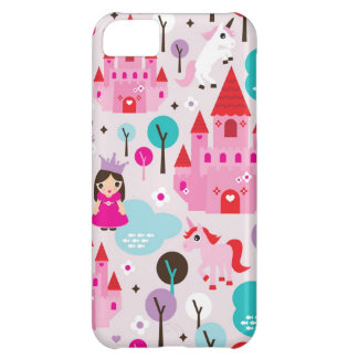 Girls princess castle and unicorn iphone case cover for iPhone 5C
