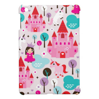 Girls princess castle and unicorn iphone case iPad mini cover