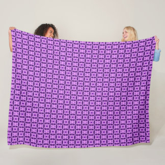 Girl's Purple Amethyst Princess Diamond Bling Fleece Blanket