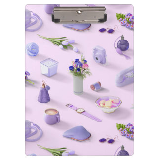 Girl's Purple Dream Clipboards
