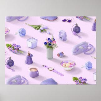 Girl's Purple Dream Poster