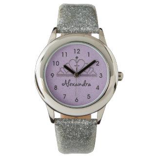 Girl's Purple Tiara Princess Watch