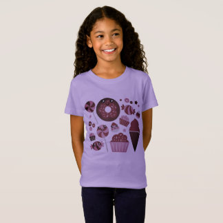 Girls purple tshirt with Donuts