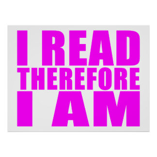 Girls Reading : I Read Therefore I Am Poster