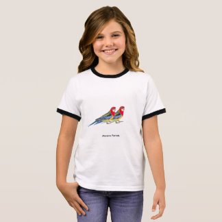 Girl's Ringer T-Shirt, White/Black Ringer T-Shirt