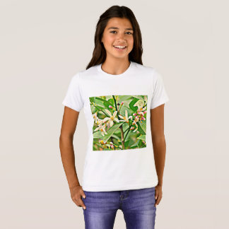 Girl's Ringer Tee Shirt - Apple Blossoms