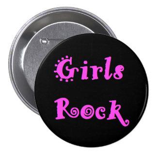 Girls Rock 7.5 Cm Round Badge