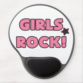 Girls Rock Band Music Pink Black Gel Mouse Pad