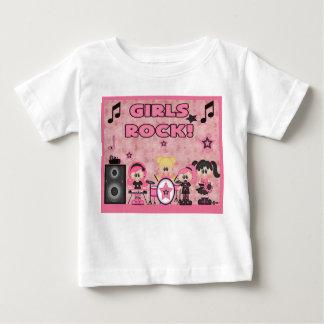 Girls Rock Band Music Pink Shirt Black
