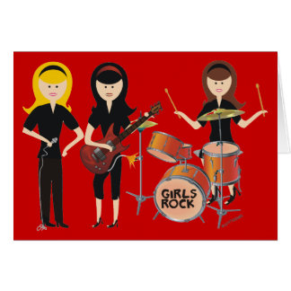 Girls Rock Birthday Card
