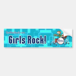 """""""Girls Rock"""" Bumper Sticker"""
