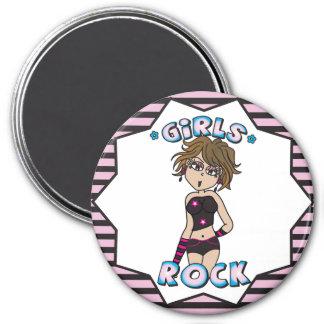 Girls Rock Hip and Stylish   Kids 7.5 Cm Round Magnet