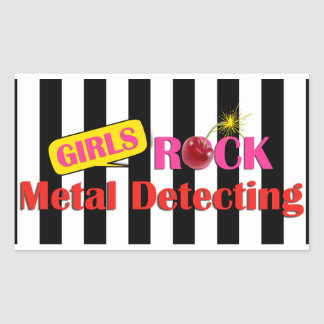 Girls Rock Metal Detecting Sticker